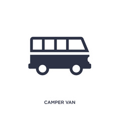 Camper van icon on white background simple vector