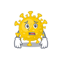 Cartoon picture corona virus diagnosis showing vector