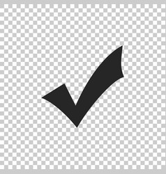 check mark icon isolated on transparent background vector image