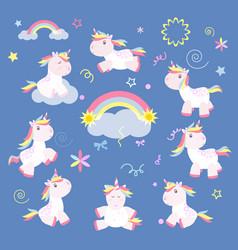 Cute unicorn magic baby vector
