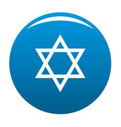 david star icon blue vector image