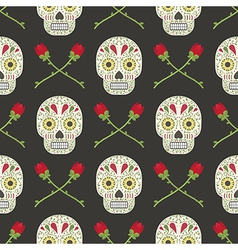 day of the dead pattern vector image
