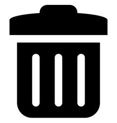 Delete icon vector