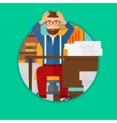 Despair man sitting in office vector