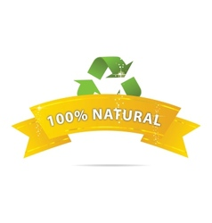 eco gold ribbon vector image