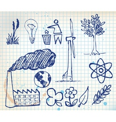 ecology handdrawn vector image