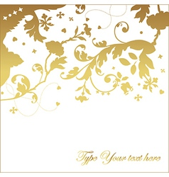 Elegant invitation card vector image