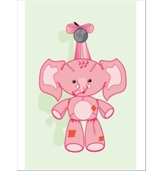 elephant soft toy vector image