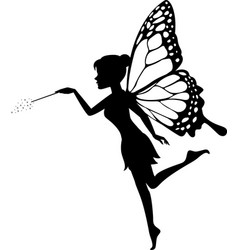 fairy waving her wand vector image