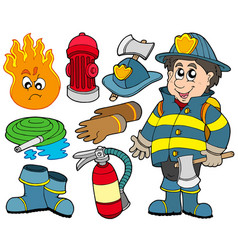 fire protection collection vector image