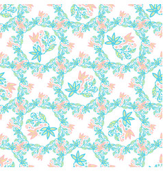 floral background beauty texture in pastel colors vector image