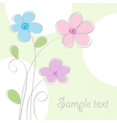 flower card vector image