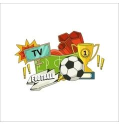 Football flyer vector image