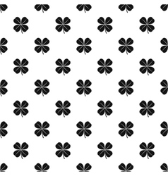 Four leaf clover leaf pattern simple style vector image
