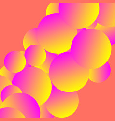 Futuristic colorful asbtract image with spheres vector