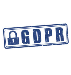 Gdpr sign or stamp vector