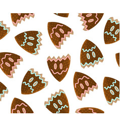 Gingerbread drama masks vector