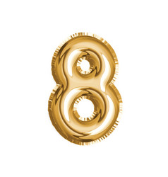 gold number eight air balloon for baby shower vector image