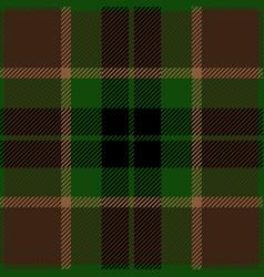 Green and brown tartan plaid seamless pattern vector