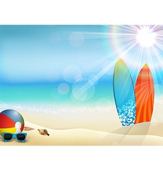 Holiday background on beach vector