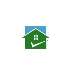 home check logo vector image