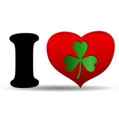I love clover vector image