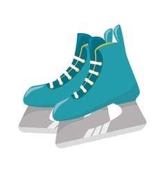 Ice skaters isolated icon vector