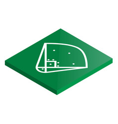 icon playground baseball in isometric vector image