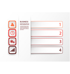 infographic template with 4 options steps or vector image