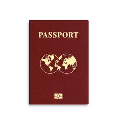 International passport red cover template vector