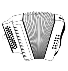 Isolated accordion outline vector