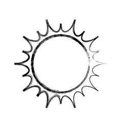 isolated big sun vector image