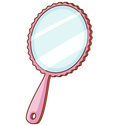 Isolated handheld mirror on white background vector
