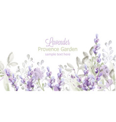 Lavender card watercolor provence flowers vector