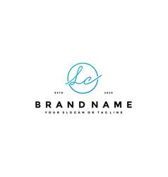 Letter lc logo design vector