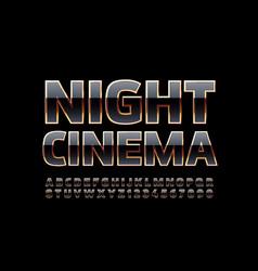 luxury poster night cinema vector image