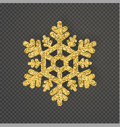 Luxury snowflake created from ornamental patterns vector