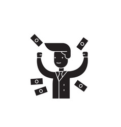 making money black concept icon making vector image