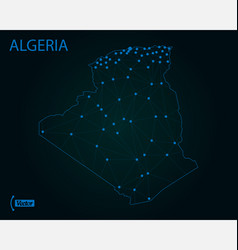 map algeria world map vector image