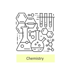 Modern thin line icons of chemistry vector image