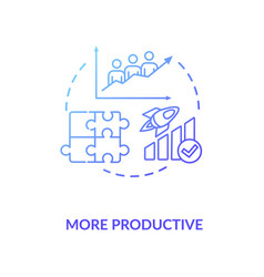 More productive blue gradient concept icon vector