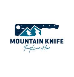 Mountain knife inspiration logo vector