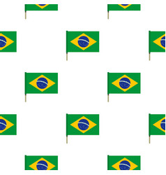 national flag of brazil pattern seamless vector image