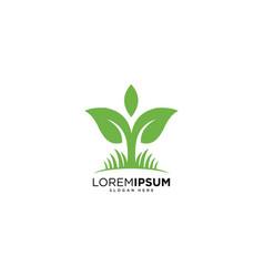 nature leaf logo design template vector image