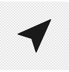 navigation arrow icon isolated vector image