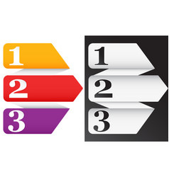 One two three four five progress icons vector