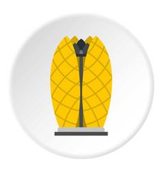 Oriental hotel icon circle vector