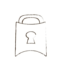 Padlock lock security money bank sketch vector