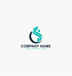 Pain relief logo design abstract letter cs vector