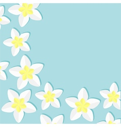 Plumeria Tropical flower icon set Frangipani vector